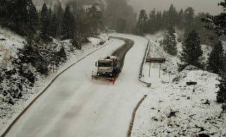 Wegen gesloten in noord Spanje vanwege eerste sneeuwval