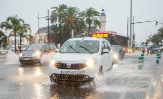 Regen zorgt voor veel problemen op de Balearen, Castellón, Valencia en Tarragona