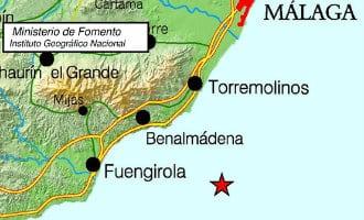 Aardbeving van 3,4 op de Richter schaal voor de kust van Torremolinos