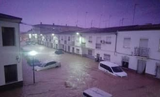 Noodweer provincie Málaga zorgt voor overstromingen en één dode