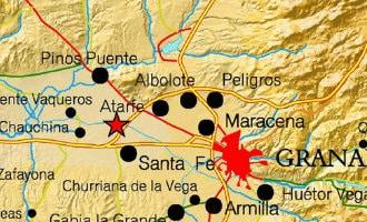 Aardbeving van 4 op Richter schaal nabij Granada