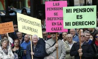 Gepensioneerden de straten op voor waardig pensioen