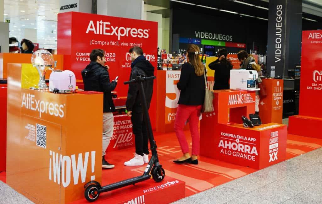 """El Corte Inglés krijgt """"pop-up-store"""" van AliExpress"""