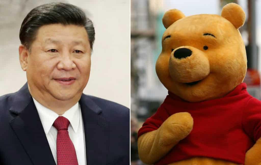 Winnie The Poeh in Madrid wordt om Chinese president naar huis gestuurd