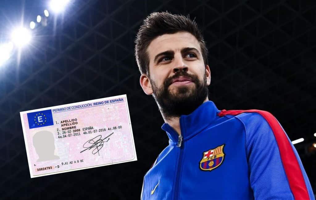 FC Barcelona verdediger Piqué moet boete betalen vanwege punten op rijbewijs