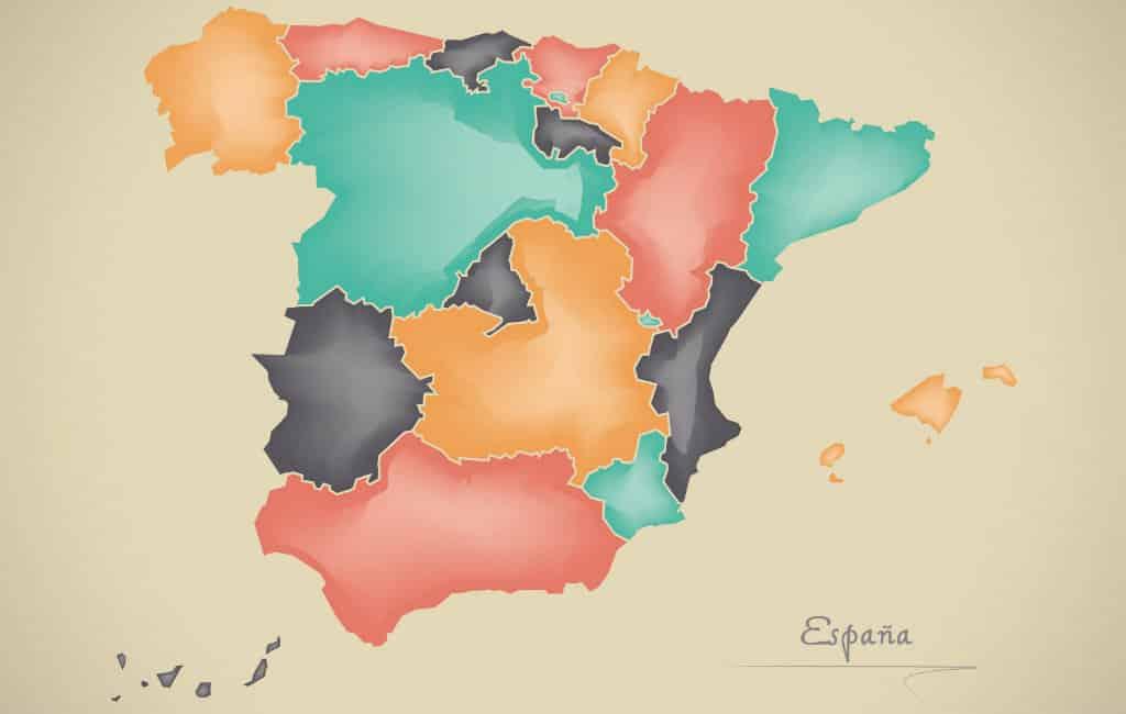 Wat zijn de grootste autonome deelstaten in Spanje?