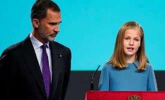 Spaanse prinses Leonor geeft eerste korte toespraak