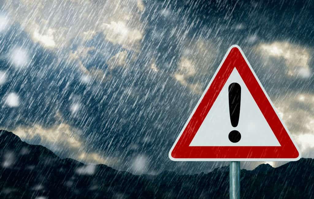 Weeralarm langs de Middellandse Zeekust in Spanje vanwege regen