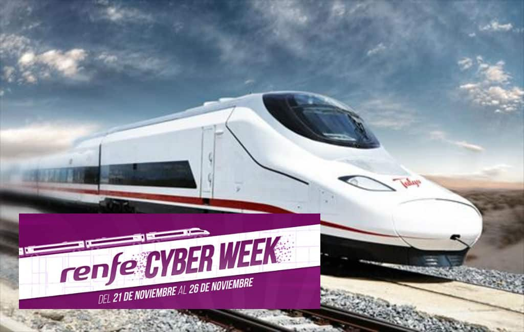 De Spaanse spoorwegen doen ook mee met Black Friday
