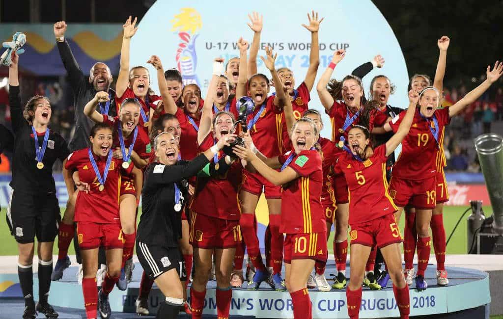 Spaans vrouwenvoetbalelftal sub-17 wordt wereldkampioen