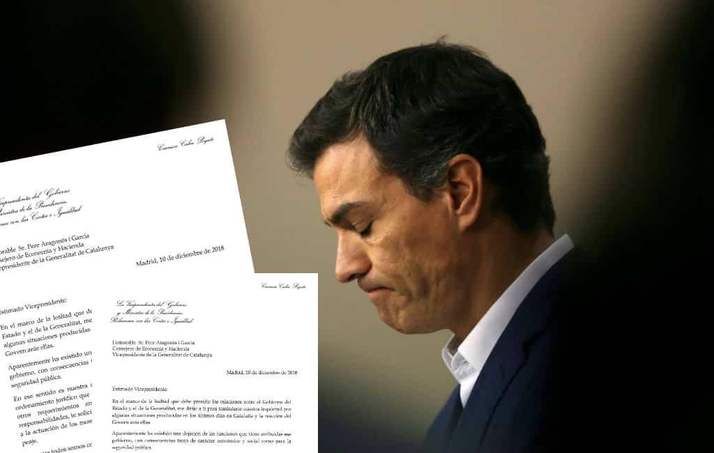 Het geduld van de Spaanse regering wat betreft Catalonië begint op te raken (UPDATE)