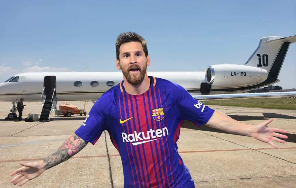 Barcelona speler Messi koopt een eigen vliegtuig voor 15 miljoen dollar