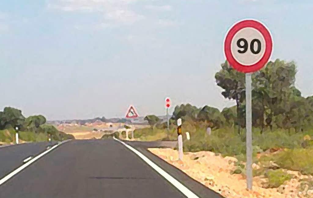 Vanaf januari 2019 gaan de snelheden op Spaanse wegen naar beneden