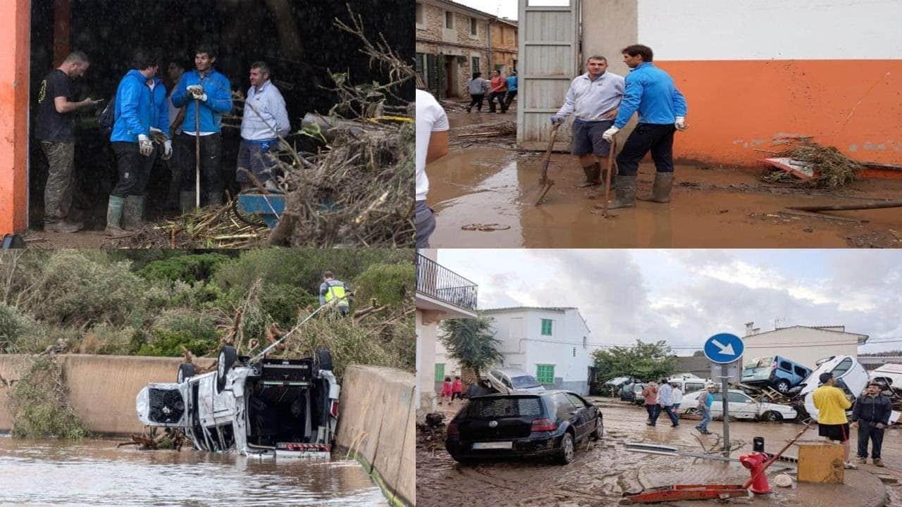 Rafa Nadal doneert één miljoen euro aan door noodweer getroffen dorp op Mallorca