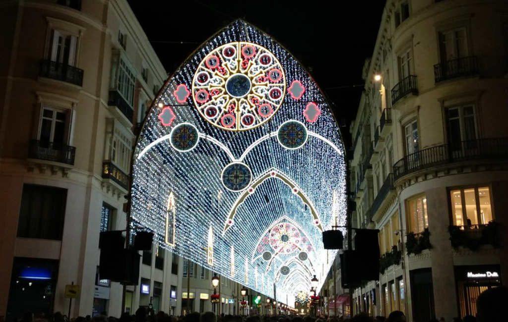 Het licht en muziek Kerstspektakel in Málaga is teruggekeerd