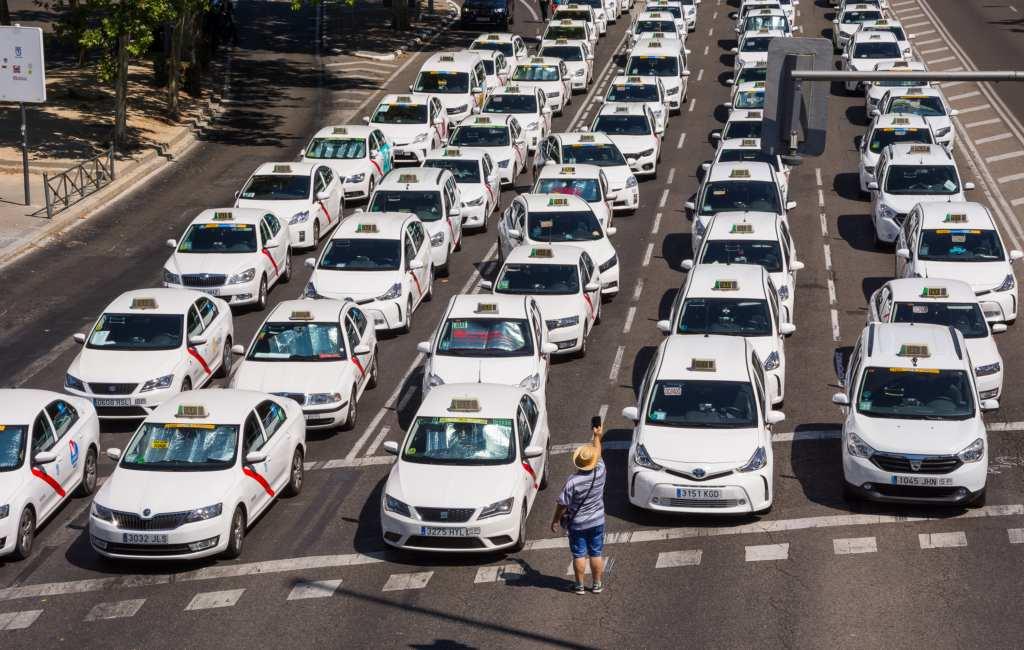 Taxi's Madrid gaan vanaf 21 januari opnieuw staken