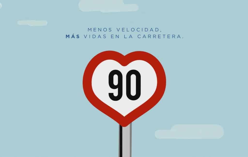 Dit is waarom men 90 km/u op de secundaire wegen moet rijden in Spanje