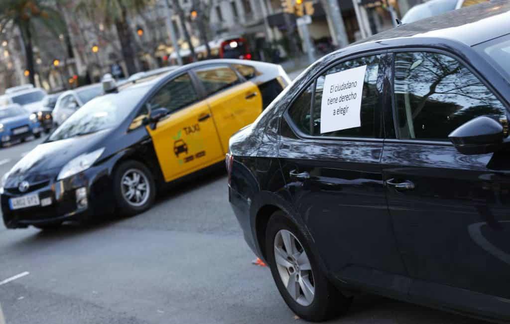 Staking taxi Barcelona voorbij maar in Madrid gaat men door