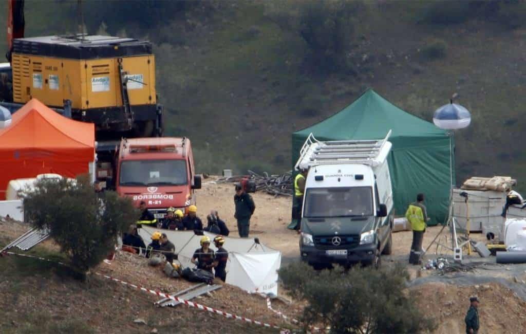 Overzicht van de reddingspoging van in put gevallen jongen in Málaga (donderdag)