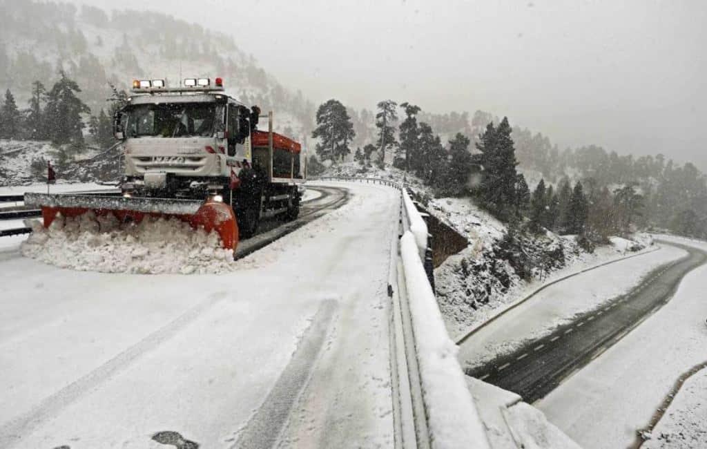 Sneeuw bedekt grote delen van Spanje