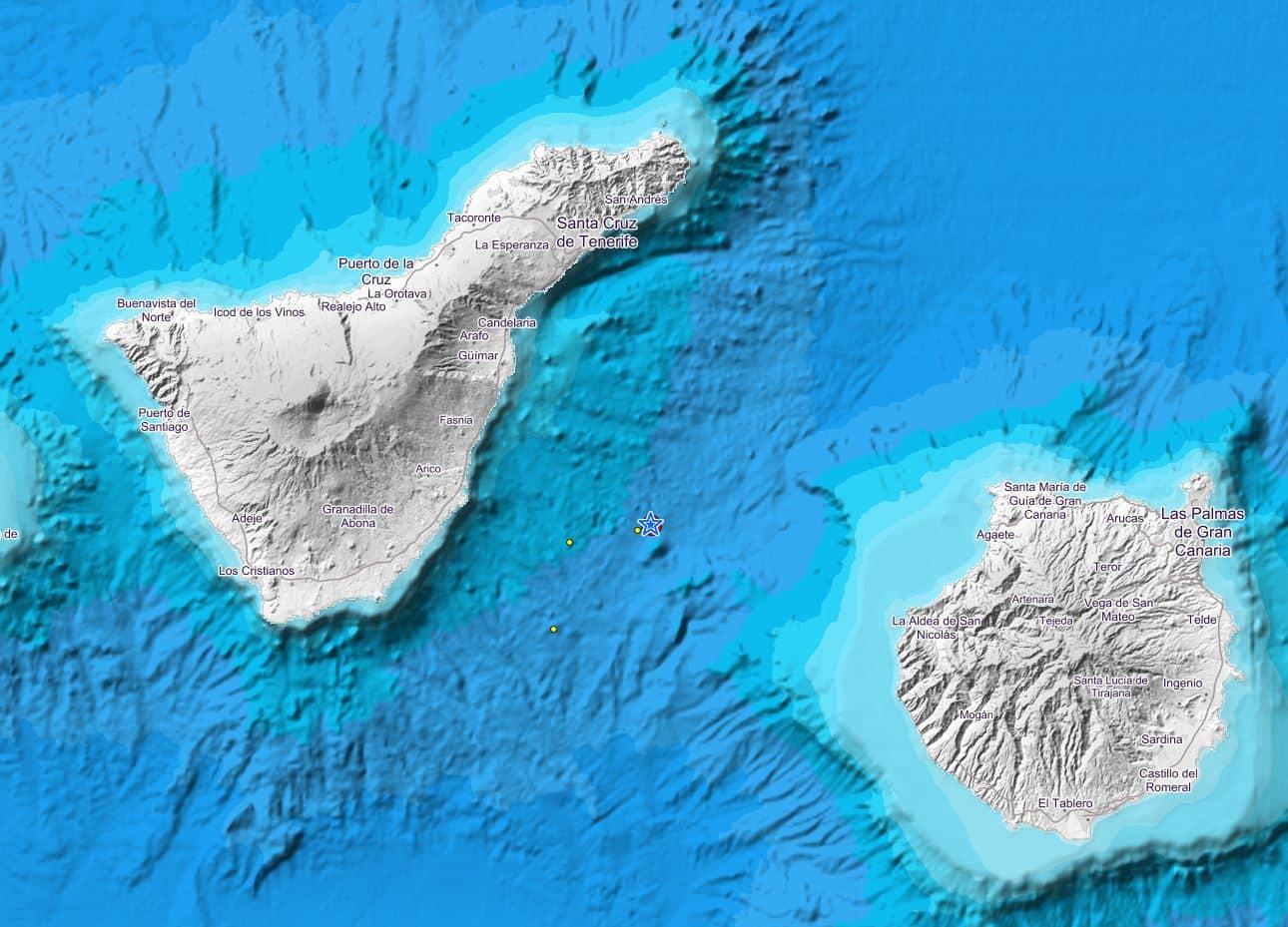 Aardbeving van 4,2 op Richter schaal bij Tenerife