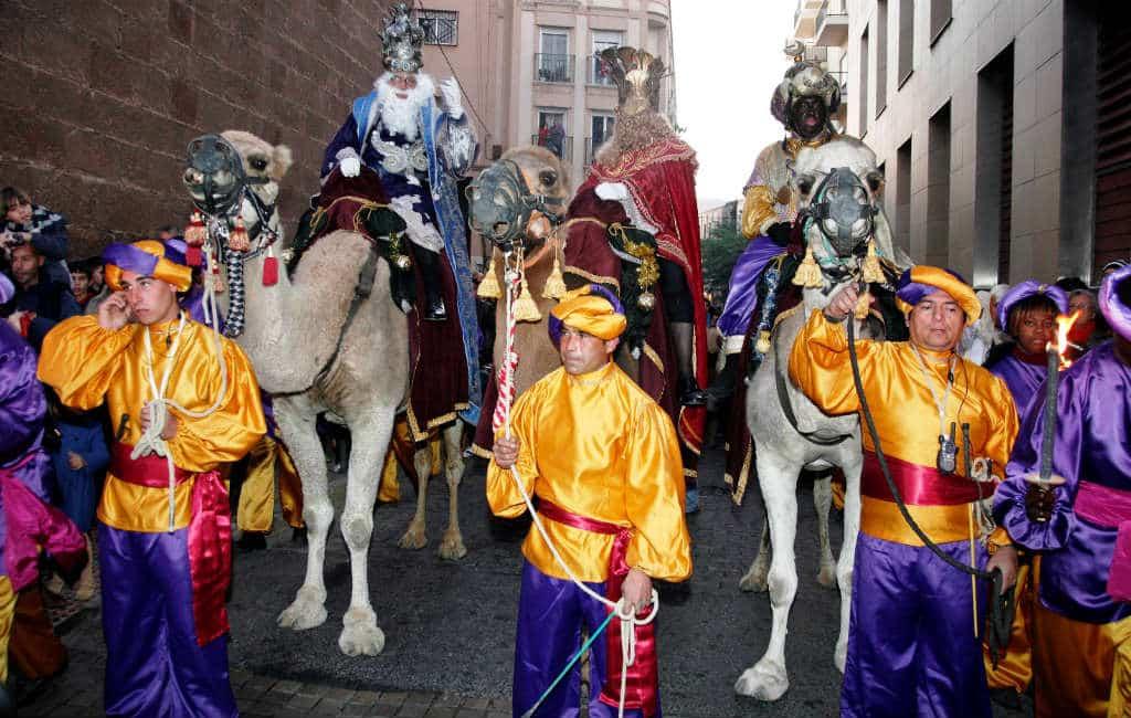 """Spanje in de ban van de """"Cabalgata de los Reyes Magos"""""""