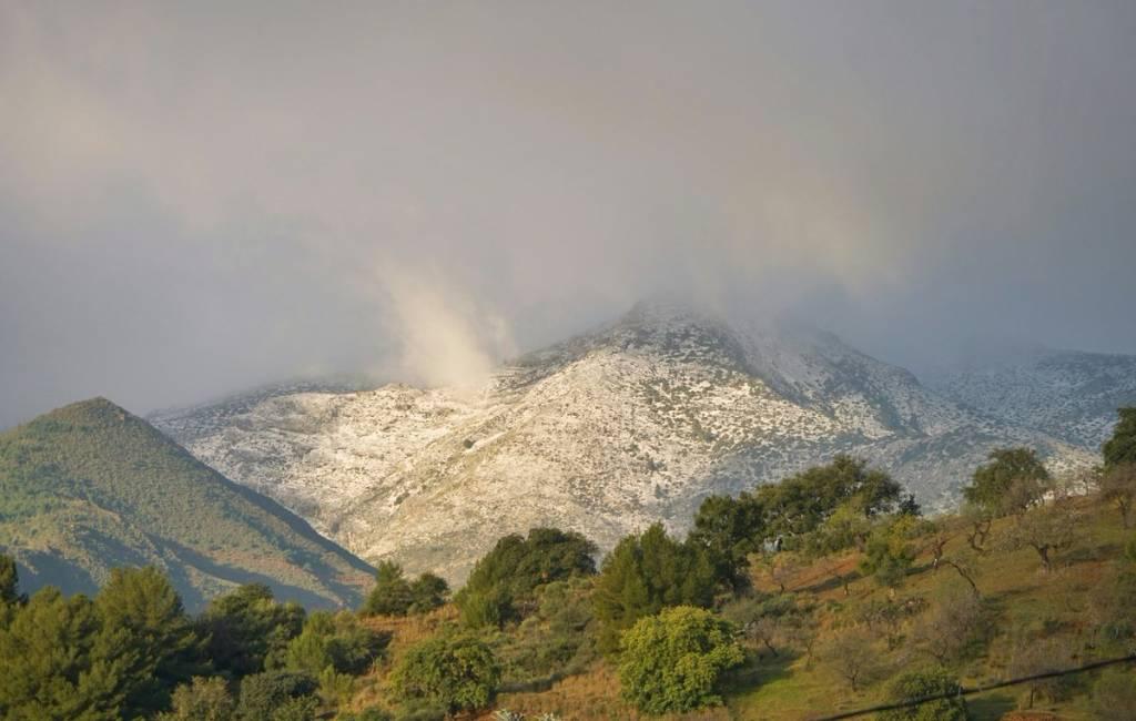 Eerste sneeuwval deze winter in provincie Málaga