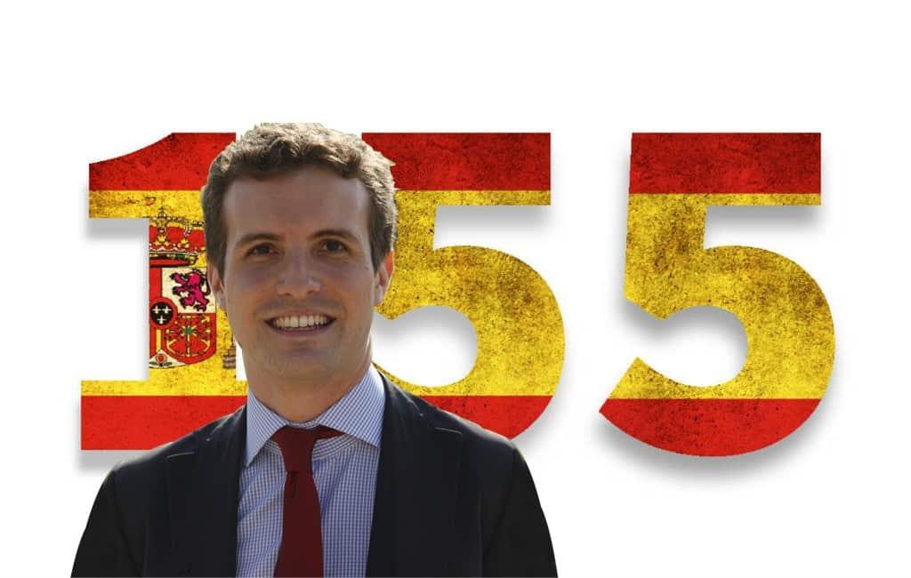 PP-partijleider wil met een permanent artikel 155 Catalonië overnemen