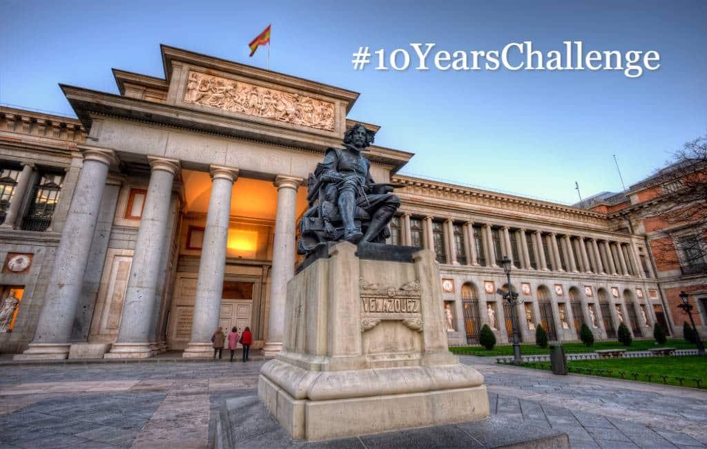 Het El Prado museum Madrid doet mee met de #10YearsChallenge