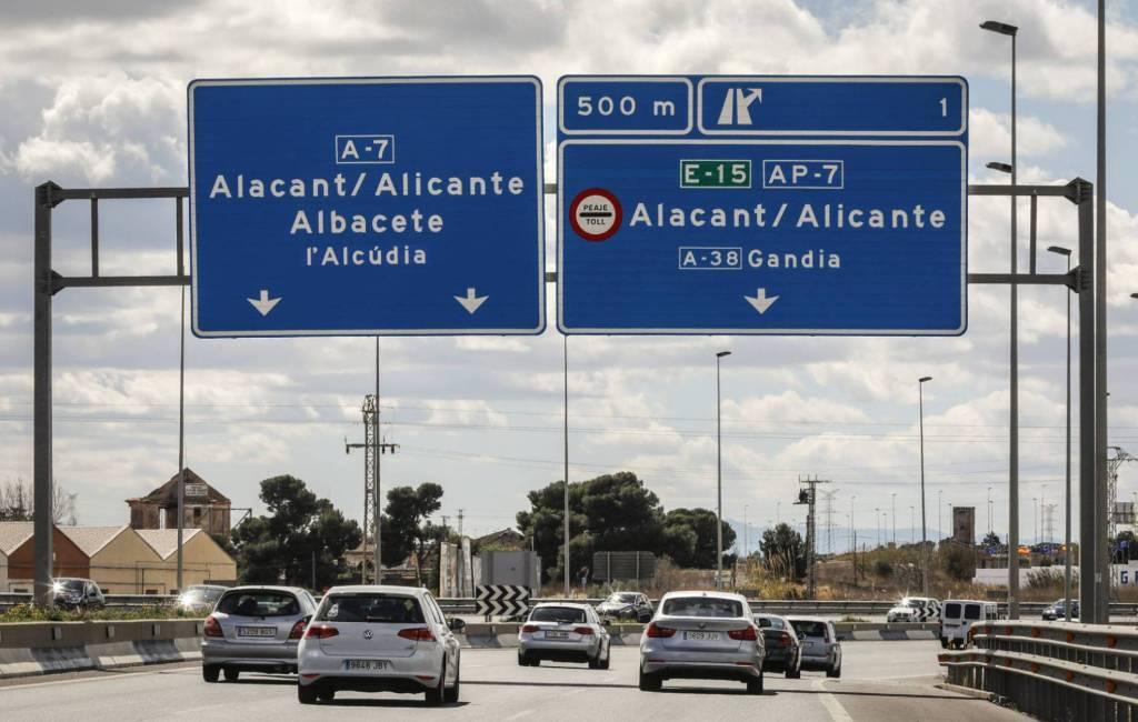 In 2020 einde tol op AP-7 tussen Alicante en Tarragona