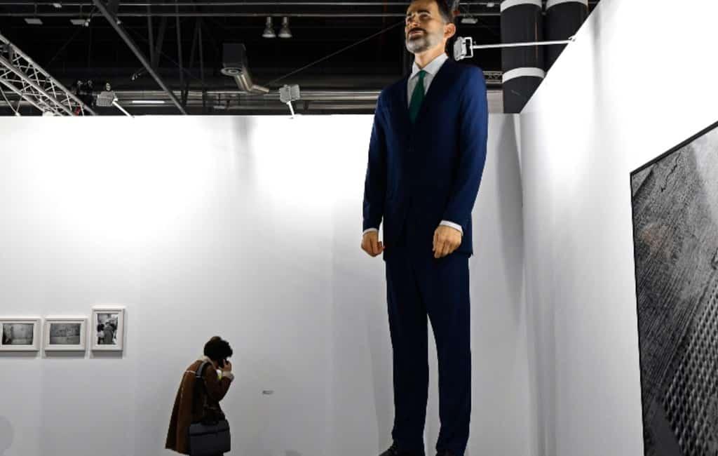 Vier meter hoog beeld van Spaanse koning moet verbrand worden