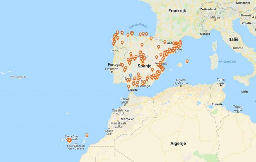 Steeds meer 'gamping' mogelijkheden in Spanje