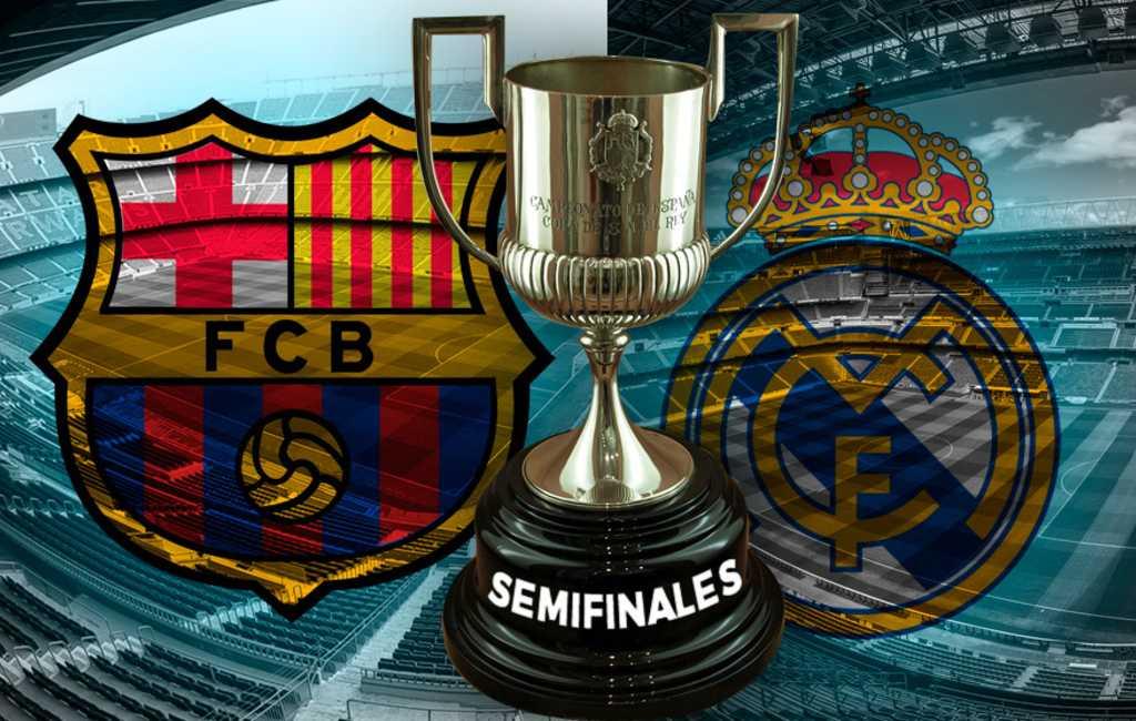 Klassieker in de halve finale Copa del Rey tussen Barcelona en Madrid (UPDATE)
