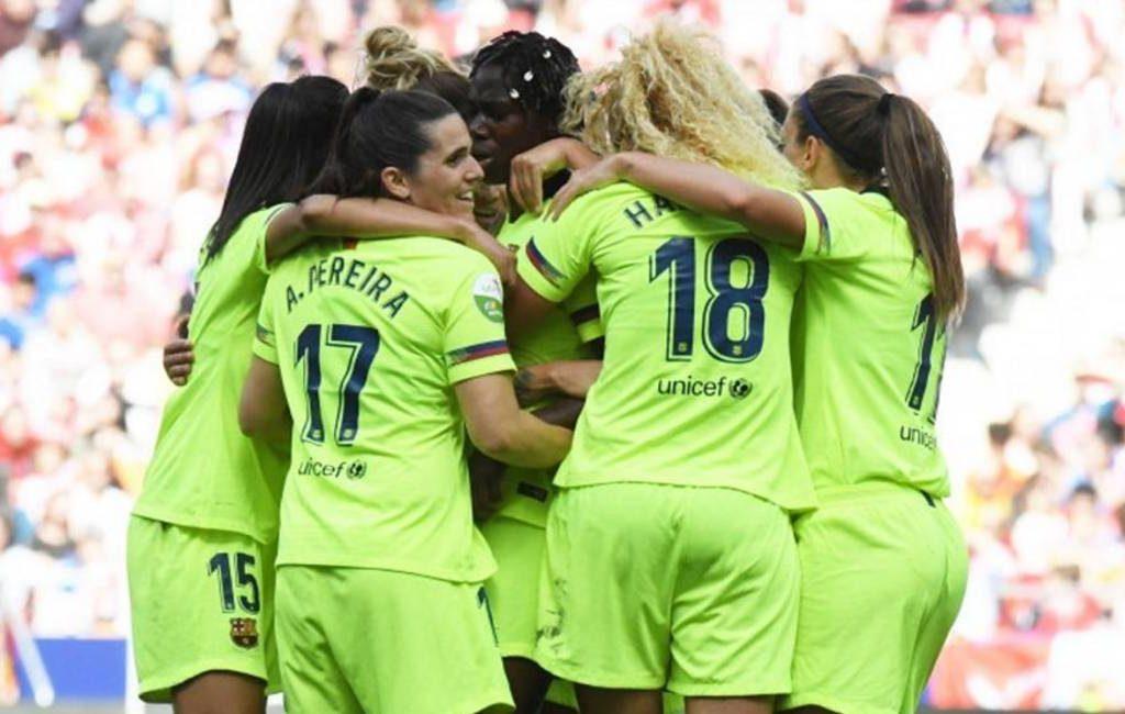 60.000 bezoekers bij Atlético Madrid-FC Barcelona vrouwenvoetbal