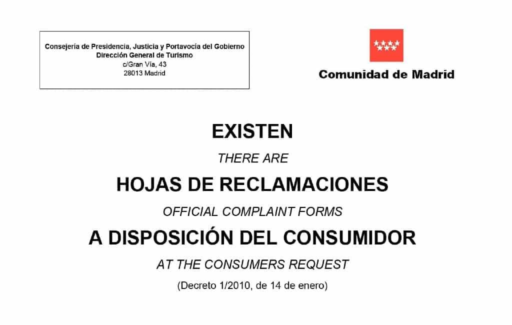 Het hoe en wat van klachtenformulieren in Spanje