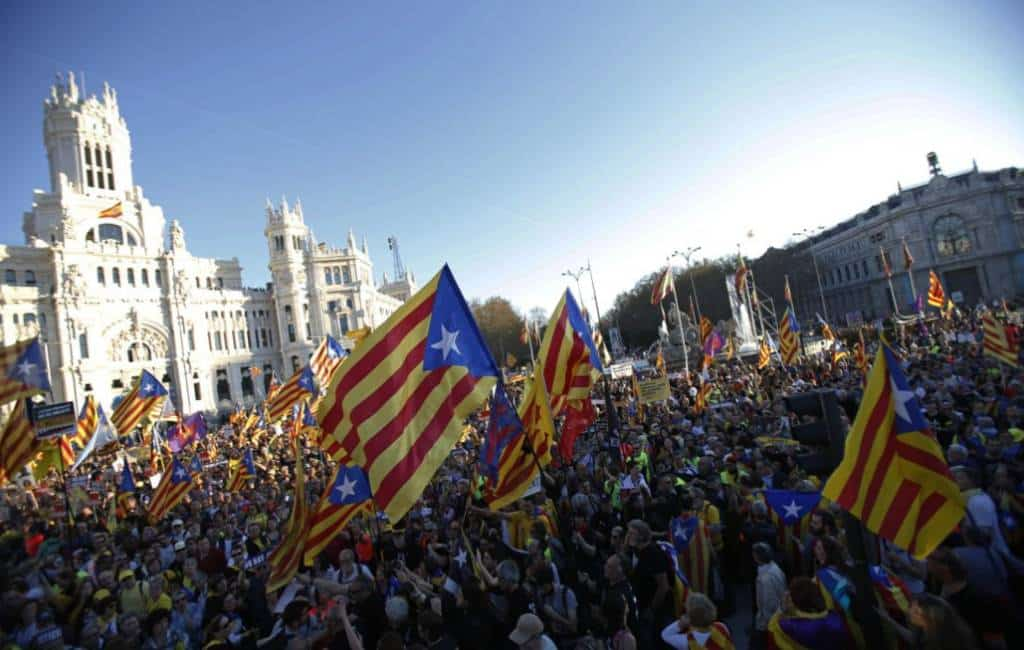 Tienduizenden Catalanen op de been in Madrid