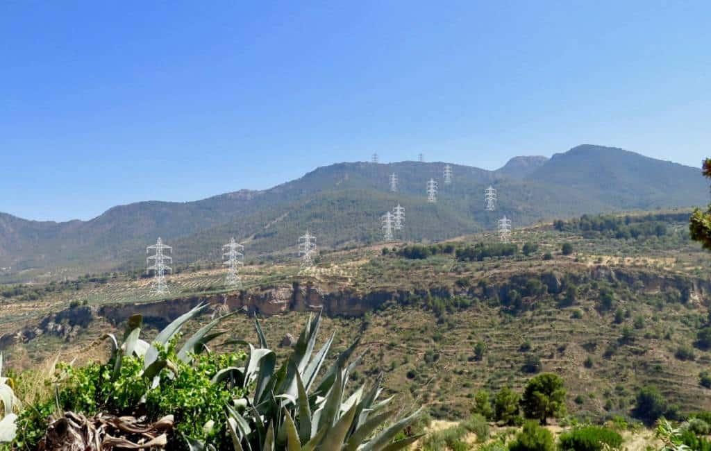 Bewoners Valle de Lecrín en Alpujarras willen geen elektriciteitsmasten