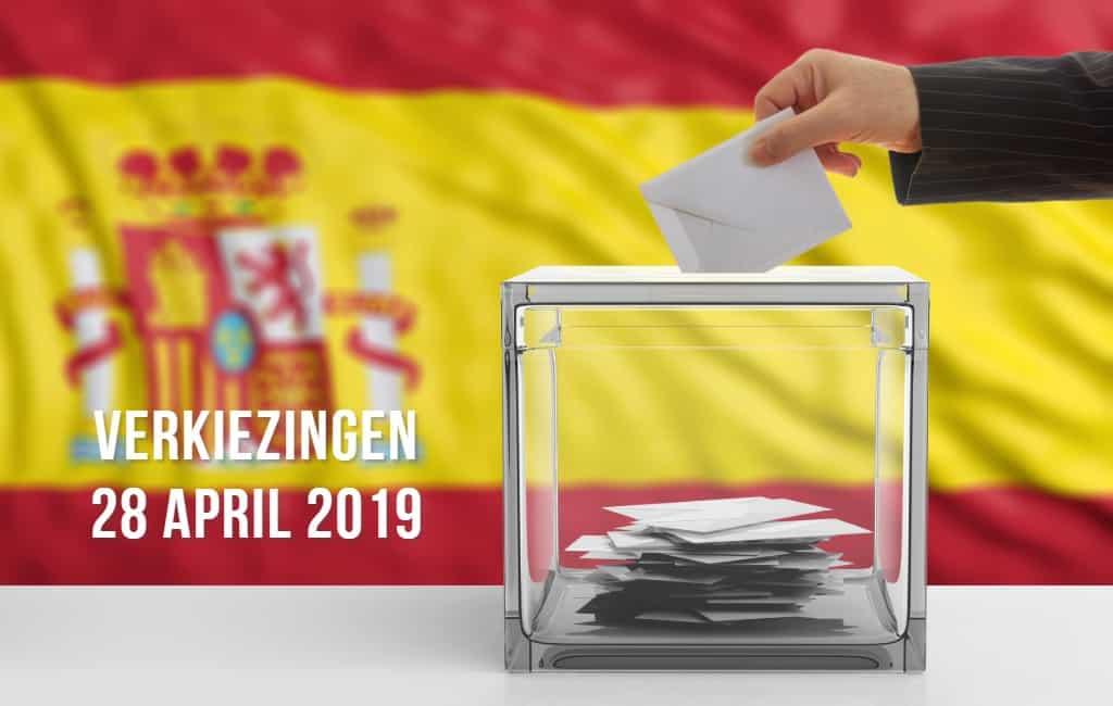 Evolutie van verkiezingspeilingen 28A in Spanje