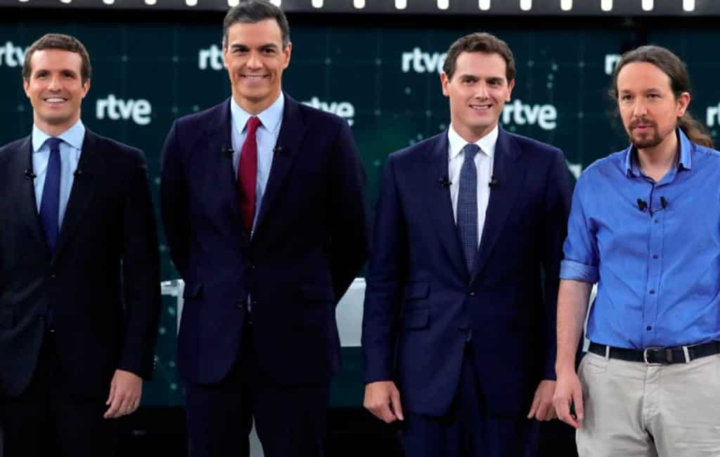 Eerste Spaanse verkiezingsdebat TVE voorbij