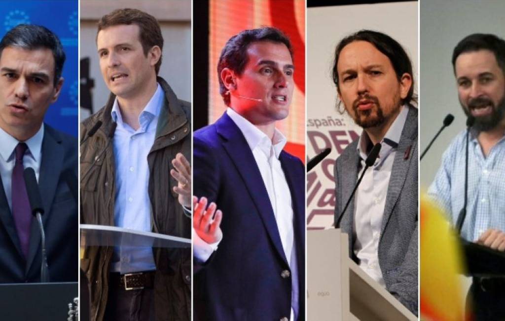 Geen 'cara a cara' maar wel verkiezingsdebat met vijf kandidaten in Spanje