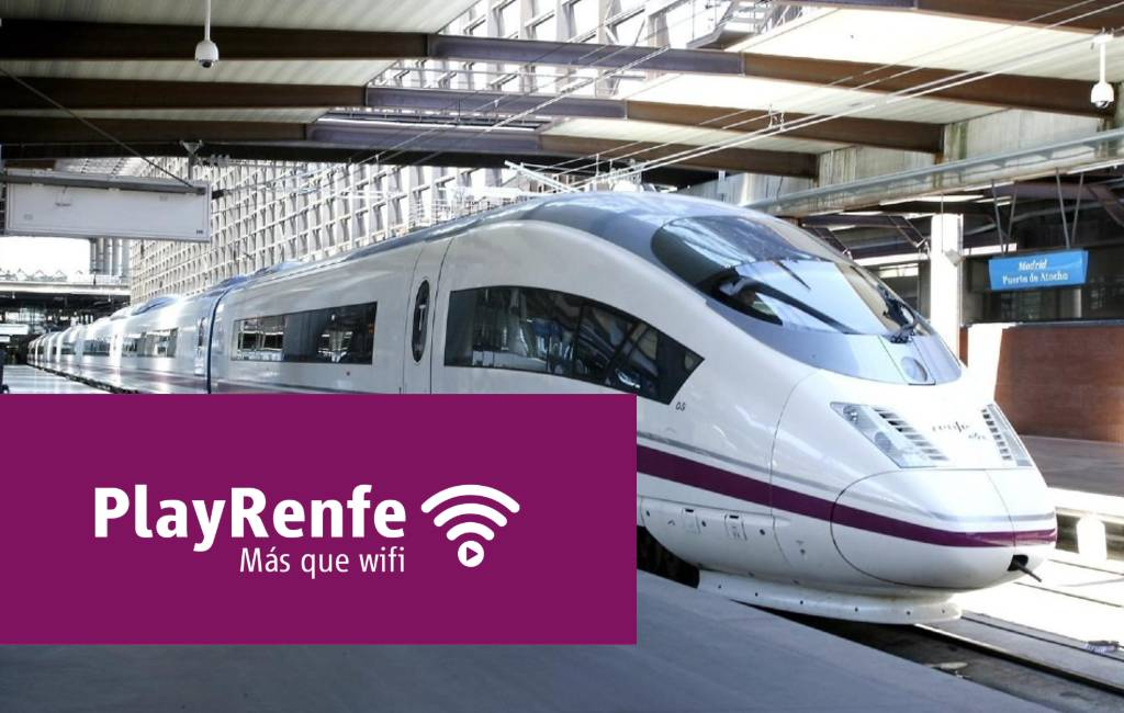 Gratis WIFI in de AVE treinen tussen Madrid, Barcelona en Málaga