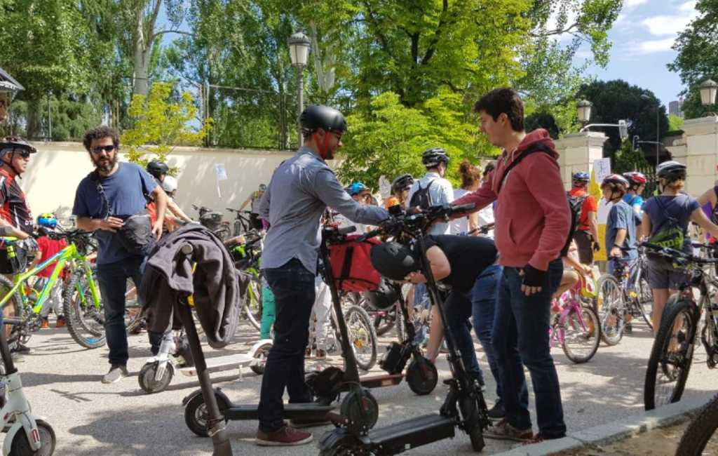 Elektrische step gebruikers gaan demonstreren in Spanje