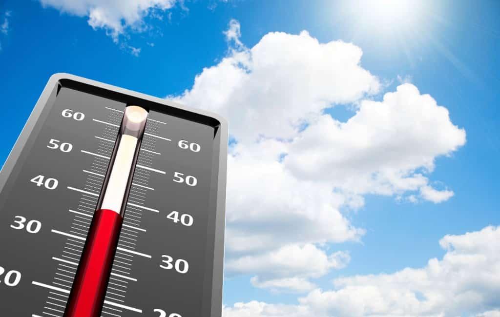 Hoogst gemeten temperatuur in Spanje op 11 mei: 34,8 graden