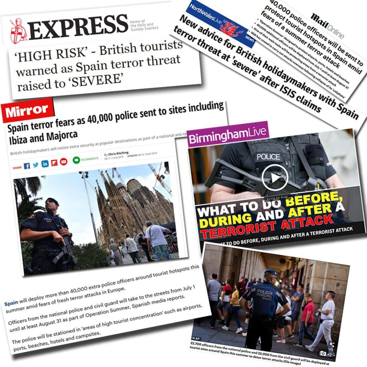 Fake Brits news over terroristische aanslagen in Spanje