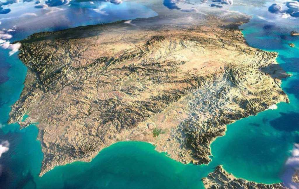 NASA archief laat Spanje vanuit de ruimte zien