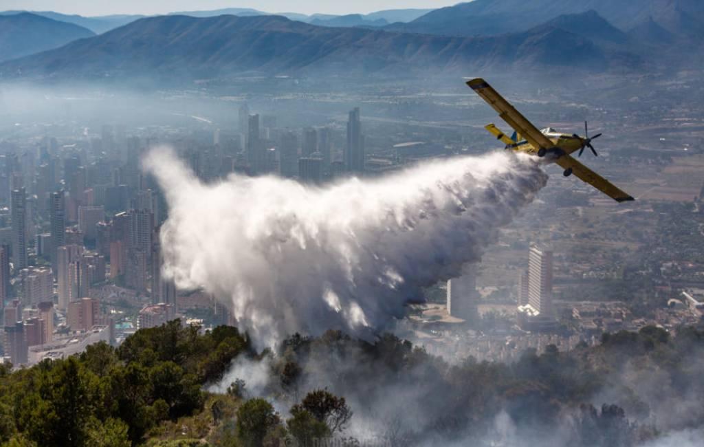 Bosbrand in Sierra Helada natuurpark Benidorm onder controle