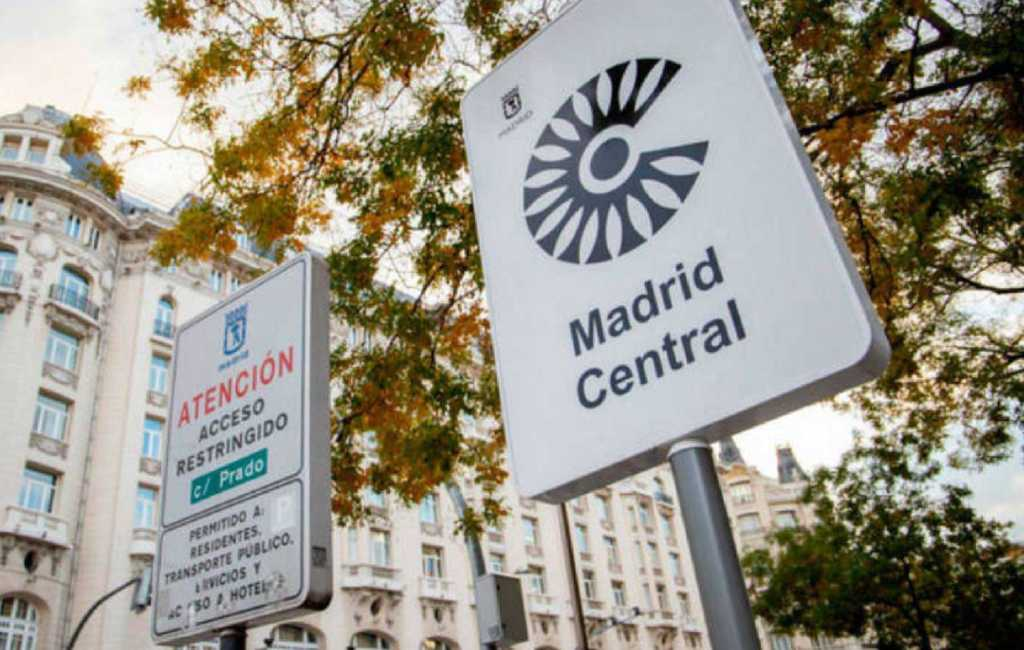 Geen boetes meer in Madrid Central in de Spaanse hoofdstad