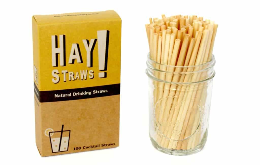 Rietjes van suiker, maïs of karton om plastic versie te vervangen op Ibiza