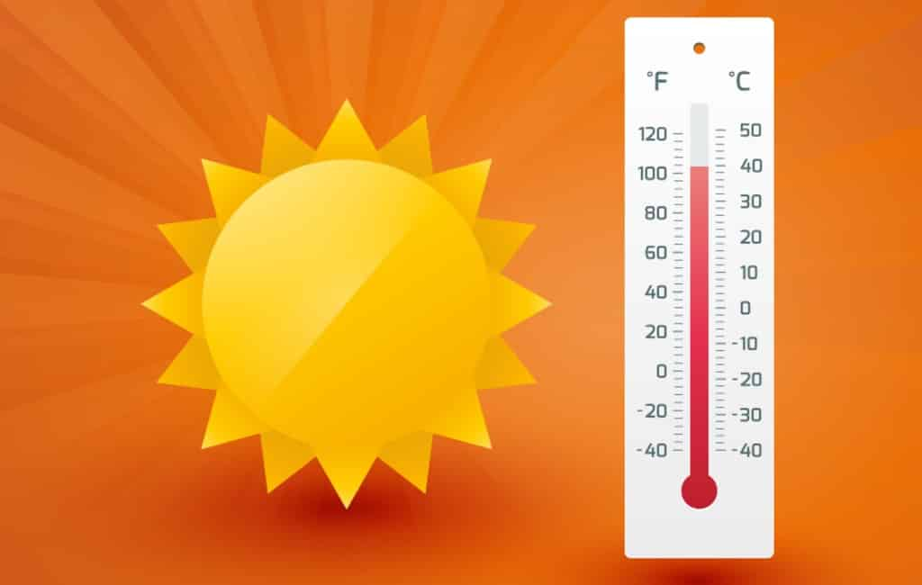 Hoogst gemeten temperatuur op vrijdag in Spanje was 42,2 graden