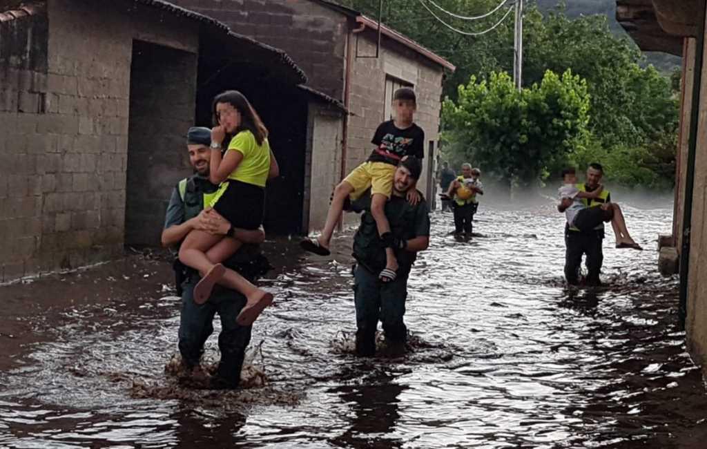 Een dode en evacuees door overstromingen Navarra en Galicië